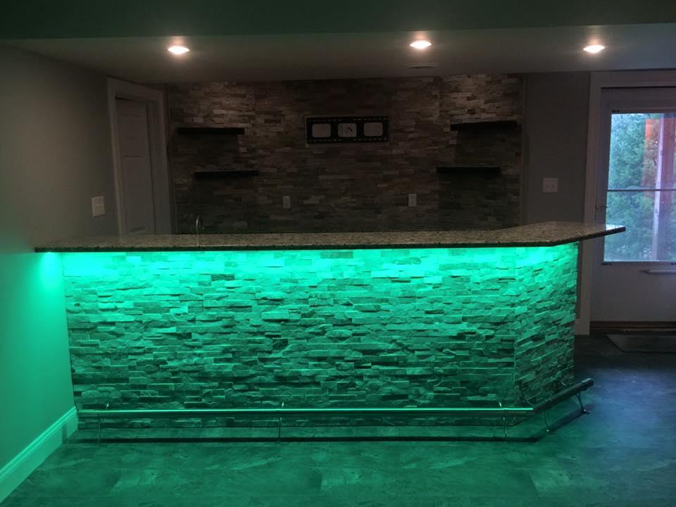 Custom Led Lighting Under Bar
